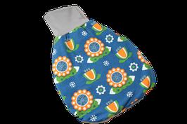 Pucksack Strampelsack Retro Blume bunt blau/bunt
