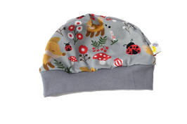 Mütze Fuchskinder grau