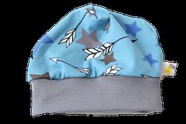 Mütze blau Sterne bunt Stars