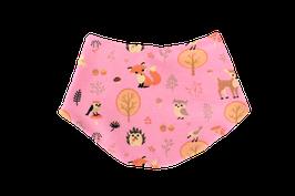 Halstuch Waldtiere rosa
