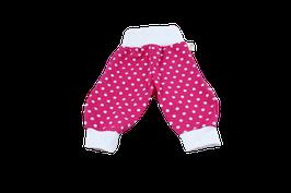 Wohlfühlhose Pink mit weissen Punkten