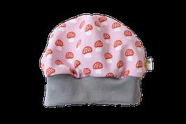 Mütze rosa Fliegenpilze Pilze