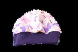 Mütze rosa Schmetterlinge