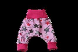 Pumphose pink bunte Sterne Stars