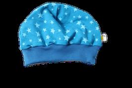 Mütze Petrol Sterne