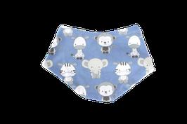 Halstuch Babytiere blau