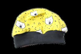Mütze senfgelb Eisbären