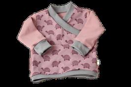 Baby Pullover Schildkröte rosa/grau