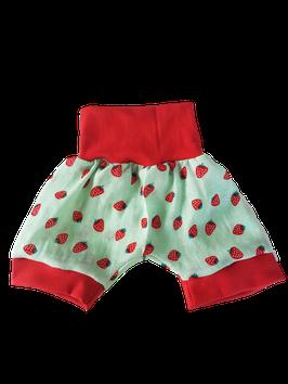 Luftige Musselin Shorts kurze Pumphose grün Erdbeere