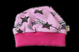 Mütze rosa Sterne bunt Stars