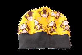 Mütze Affe gelb