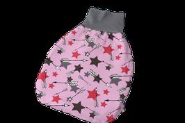 Pucksack Strampelsack Sterne Stars rosa/bunt