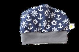 Mütze Maritim blau mit Anker & Steuerrad