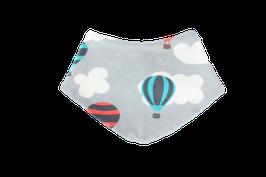 Halstuch Luftballons grau Wolken