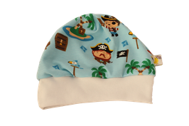 Mütze hellblau Pirat