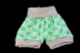Shorts kurze Pumphose grüne Schildkröten