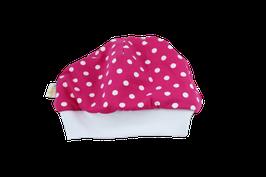 Mütze pink mit weissen Punkten