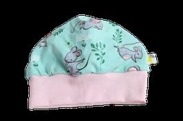 Mütze Maus rosa mint