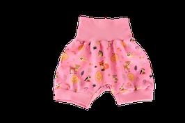 Shorts kurze Pumphose rosa Waldtiere