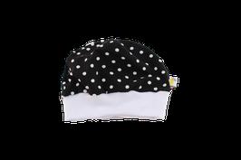 Mütze schwarz mit weissen Punkten