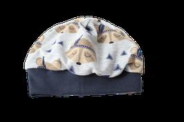 Mütze grau Waschbären