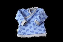 Baby Pullover Schildkröte blau