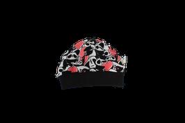 Mütze schwarz Pandabär
