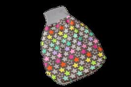 Pucksack Strampelsack Sterne Stars bunt7grau