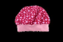 Mütze pink Sterne rosa