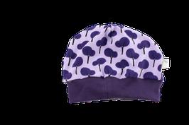 Mütze lila Bäumchen