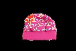 Mütze Pink mit Füchsen