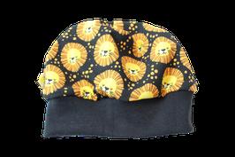 Mütze schwarz Löwe