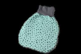 Pucksack Strampelsack Sterne mint/grau