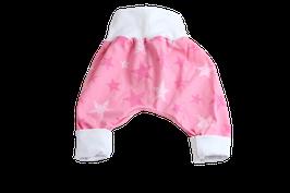 Pumphose Sterne rosa/weiss