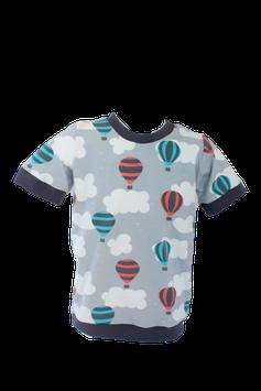 Shirt Luftballons Wolken  T-Shirt grau