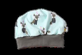 Mütze mint Fuchs indigo