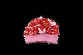 Mütze rosa rotes Häschen