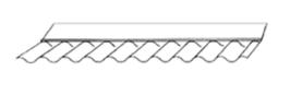 Maueranschluss / Traufenfuß 76/18 - Glasklar - 150/65mmx1045mm