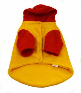 Hundemantel gelb-rot (VERKAUFT)