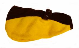 Hundemantel gelb-braun