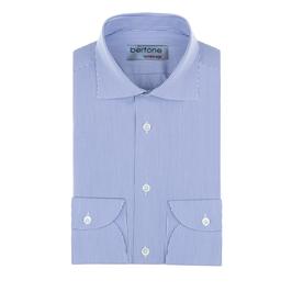 Hemd Classic, fein gestreift blau