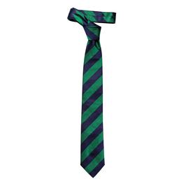 Krawatte mit breiten zweifarbigen sich wiederholenden Streifen, navy/grün