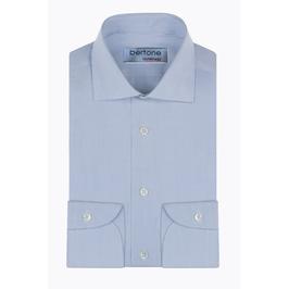 Hemd Classic, sehr fein kariert blau