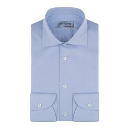 Hemd Classic, fein kariert blau