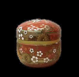 Lata para té KAZE rojo cobrizo