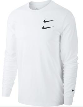 NIKE SWOOSH shirt met lange mouwen, wit - Maat L -
