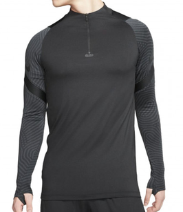 NIKE Dri Fit Drill zip-sweater, zwart - Maat XL -