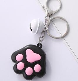 Portachiavi Zampina di Gatto nero  e rosa