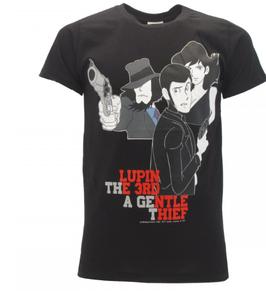 Lupin 3 III - Modello Gruppo nera - t-shirt ufficiale nera