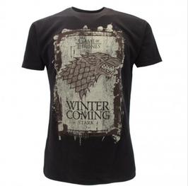 "Trono di Spade - Game Of Thrones -  ""winter is coming  Leone"" t-shirt ufficiale nera"
